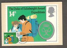 1981 Scott 952 first day cover post card Duke Of Edinburgh's Award Expedition