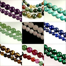 15.5'' STRAND ( Approx.) x ROUND~GEMSTONE~Crystal~BEADS~CHOOSE GEMSTONE~AND~SIZE