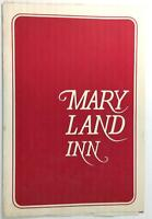 1970's Original Menu THE CROWN & CRAB Maryland Inn Annapolis Maryland
