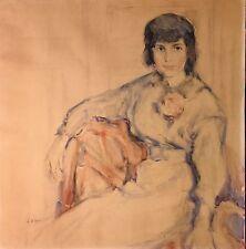 Dehoy Charles  Portrait de Mme Lucie Valore-Pauwels ? -Veuve de Maurice Utrillo