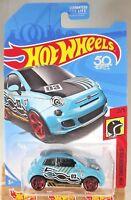 2018 Hot Wheels FRR84 HW Daredevils 2/5 FIAT 500 Teal w/Red Pr5 Sp 50th Anniv