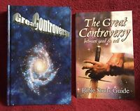 ELLEN G. WHITE Duo: THE GREAT CONTROVERSY 2005 HB ~ GC BIBLE STUDY GUIDE 2003 PB