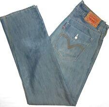 34x34 Levi Strauss 514 Slim Straight Blue Jeans Men's Cotton Blend Red Tab Denim