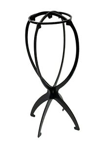 """Portable Folding Hat or Wig Stand 14"""" Tall - Black"""