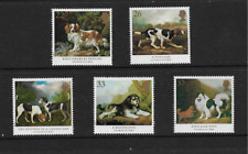 1991 GB.- Dogs - Paintings by George Stubbs - Full Set of Five - MNH.
