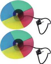 2x farbscheibe/ruota dei colori 4-COLORATI CON MOTORE PER PUNTO FARETTO/PIN-Spot PAR 36