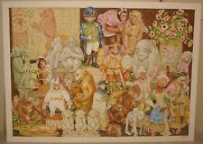 Vintage 1996 BEN BLACK 'MONKEY BIZ' Still LIfe PAINTING - Royal Doulton Artist