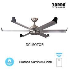 "60"" / 150CM Large Reversible DC Ceiling Fan 6 Blade W/ Remote - Brushed Nickel"