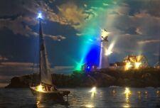 LED Bild Wandbild 65cm x 45cm Leuchtbild BOOT / SEE / NATUR Samarkand-Lights