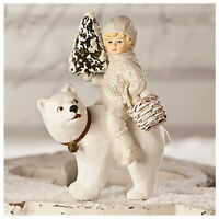 Bethany Lowe Polar Bear Friends White Tree Christmas Retro Vntg Decor Figurine