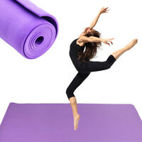 6mm Thick Non Slip Exercise Yoga Mats Gym Fitness Pilates Physio Foam Camping