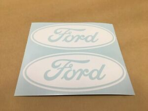 2X WHITE Ford  Emblem Vinyl Decal Sticker for Truck Racing GT Mustang F150 F250