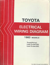 1983 Toyota Pickup Truck Electrical Wiring Diagram Repair Manual