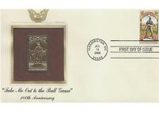 2008 Take Me Out To The Ball Game Baseball 100th 22kt Gold Golden Cover Stamp