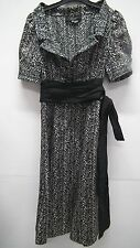 Zara Basic Black and Cream Silky Dress size S