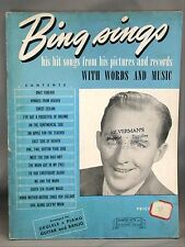 Bing Sings 1940 Song Book Hits Records and Pictures Piano Guitar Ukuelele