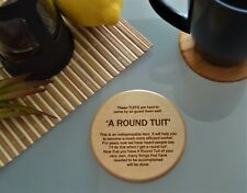 A Round Tuit Lime wooden Coaster present christmas, stocking filler, funny gift