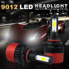 2x Built-in Fan 6500K 16000lm 9012 Low Beam Headlight HID White LED Bulb for car