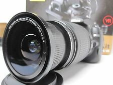 Ultra Wide Angle Macro Fisheye lens for Nikon d5300 d3300 d7100 w/ 18-105 18-70