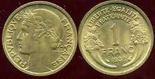FRANCE  FRANCIA    1 franc MORLON 1939 SUP  ( bis )