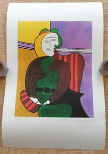 PABLO PICASSO, The Red Armchair Print, Limited Edition, 1993, 332/500, Giclee