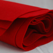 100% Wool Felt Fabric - 1mm Thick - Made in Europe - Red - 1/2m x 1.6m