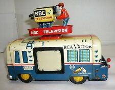 RARE VINTAGE 1950'S JAPAN BATTERY OP. RCA VICTOR NBC TELEVISION TRUCK YONEZAWA
