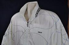 Vintage HEAD Nylon Windbreaker Men Size Sz. XL White Geometric 1980s 1990s Retro