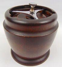 Solid Oak Wood Edwardian Tobacco Jar With Screw Lock - Insert - arthur wood jar