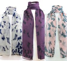Butterfly Design Viscose Large Ladies Scarf Shawl Sarong Wrap