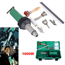 1600W Hot Air Torch Plastic Welder Welding Heat Gun Pistol w/ 4pc Nozzle +Roller