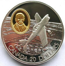 Canada 1995 C-FEA1 Chipmunk 20 Dollars Silver Coin,Proof