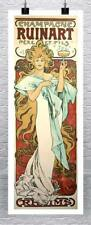 Champagne Ruinart 1897 Alphonse Mucha Poster Rolled Canvas Giclee 17x44 in.