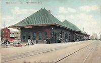 PATERSON NJ - Erie Railroad Station - 1908