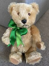 """Vintage 14"""" Squeaker  Bear Chad Valley Chiltern W/Label Mohair Jointed SO NICE!"""
