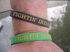"Notre Dame Fighting Irish Wristbands Bracelet ""Fightin' Irish"" Set Of 2 NCAA"
