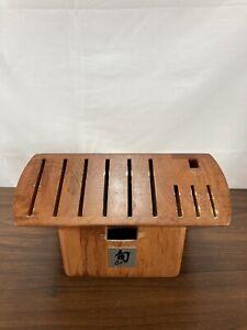 Shun 10 Slots Knives Bamboo Kitchen Knife Block High Quality!