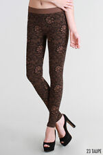 NEW Nikibiki Floral Zaccardi Leggings In Taupe One Size Fits Most
