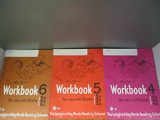 The Ladybird Key Words Reading Scheme Workbooks 4-6 - Very Rare!  (ID:28999)