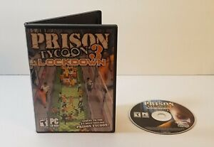 Prison Tycoon 3: Lockdown PC CD-Rom 2007 windows simulation strategy game