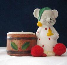 Vintage Porcelain Votive Candle Stick Holder Christmas Mouse Tea Light