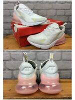 NIKE LADIES UK 5.5 EUR 39 AIR MAX 270 WHITE PINK YELLOW TRAINERS RRP £130  EP