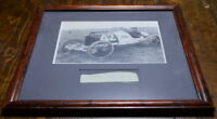 Capt. Eddie Rickenbacker 1914 Indianapolis 500 Winner Autographed & Photo Framed