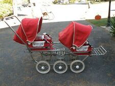 VINTAGE EMMALJUNGA SWEDISH DOUBLE BABY STROLLER PRAM BABY CARRIAGE