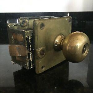 Antique Brass CORBIN Hotel Cylinder Door Locksets (lot of 7) Signed 1900's MB98