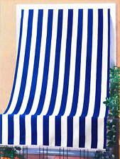 Tenda da Sole per Sormonto 140x300 cm in Poliestere con Anelli Ranieri a Strisc
