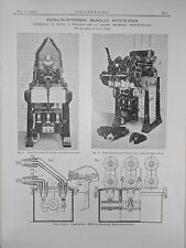 Extra High Tension Ironclad Switch Gear: 1908 Engineering Magazine Print