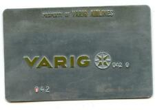 vintage VARIG AIRLINES TICKET Validation metal Plate rare