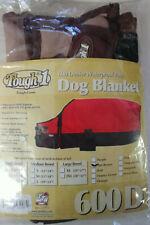 """Tough 1 Xs 600 Denier Waterproof Poly Dog Blanket - Tan/Brown 10""""-12"""""""