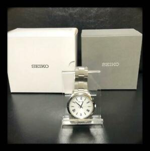 Seiko SBPL007 Stainless Steel Used V131-0AG0 Solar Mens Watch Authentic Working